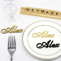 Laser Cut Names Personalized Wedding Sign Place Cards Guest Names Place Settings