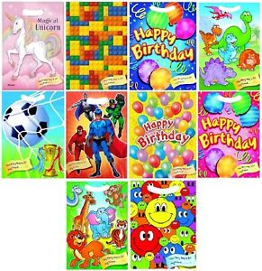 Party Bags Childrens Birthday Cello Loot Treat Favour Goody Bag Girls Boys Kids