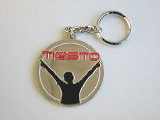 DJ TIESTO - Rare Metal Logo Keyring - Dance Trance/House CLUBWEAR Key Ring NEW
