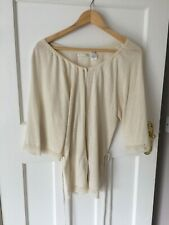 SOFT GREY SILK /LACE  CARDIGAN SIZE  10/12 NEW