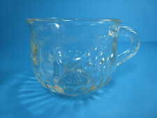 Vintage Jeanette Glass Crystal Fruit Grapes Pears PUNCH CUP