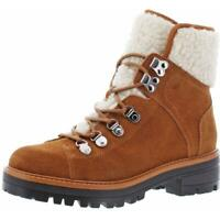 Marc Fisher Women's Icecap Faux Leather Faux Shearling Lug Sole Hiking Ankle
