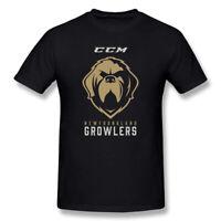 Fashion Newfoundland Growlers Ice Hockey Men's T-shirt Black