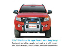 FRONT GRILLE GUARD BUMPER WITH FOG LAMP FOR FORD RANGER T6 4X4 WILDTRAK 2012-15