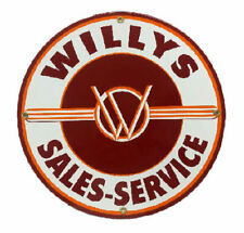 Willys Service Porcelain Advertising Sign
