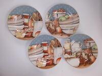 David Carter Brown Pantry Crockery Collection Set Of 4 Salad-Dessert Plates