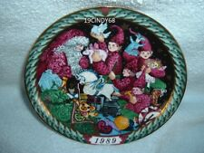 "1989 First Edition Bing & Grondahl (B&G) Collector Plate ""Santa'S Workshop"""