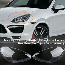 1 Pair Headlight Lampshade Clear Lens Cover For Porsche Cayenne 2011-2014