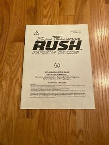 San Francisco Rush Extreme Racing Sit-In Dedicated Operation Manual, Atari 1996