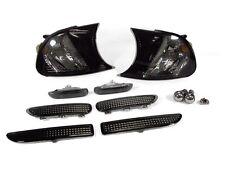 02-03 BMW E46 2D Smoke Corner Light +Side Marker +4PC Bumper Light +Chrome Bulb