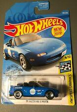 1991 Mazda Miata Mx5 Die-Cast Car Blue 184 - 2019 Hot Wheels