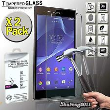 2 Pack Tempered Glass Film Screen Protector Cover For Sony Xperia T2 Ultra D5303