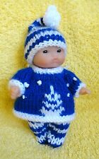 "Hand Knitted Clothes for 5"" Berenguer Doll (#15)"