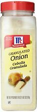McCormick Granulated Onion 18 oz - Spice Seasoning Chopped Powder Cooking Flavor