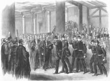 LONDON. Reception of the Belgians by the Lord Mayor at Guildhall, print, 1867