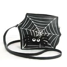 Cute Little Spooky Spiderweb Crossbody Bag Purse Goth Punk Halloween Alternative
