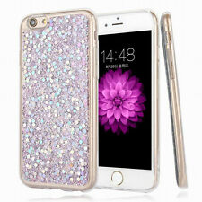 Bling Glitter Sparkle Rubber Soft TPU Silicone Phone Case For iPhone X 8 6s Plus