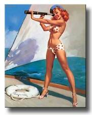 RETRO PINUP GIRL-EXTRA LARGE CANVAS PRINT A1 Vintage Gil Elvgren Splendid View