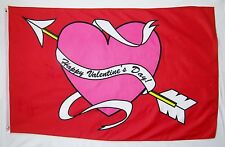 Happy Valentine's Day! Holiday Flag 3' X 5' Indoor Outdoor Banner