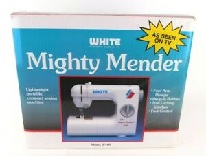 New in Box - White Mighty Mender Sewing Machine W100 Portable Light Compact