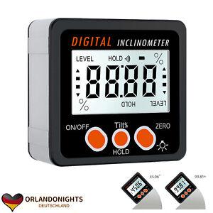 360° Magnet Digital LCD Winkelmesser Winkelmessgerät Neigungsmesser Inklinometer