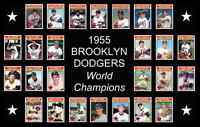 1955 BROOKLYN DODGERS World Series Team POSTER Man Cave Decor Fan Xmas Gift 55