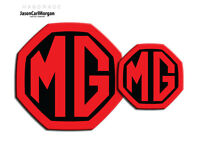 MG ZR MK2 LE500 Style Badge Inserts Front & Rear 59mm 95mm Black & Red Badges