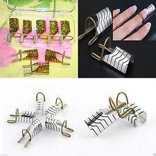5 Moldes Guias Para Uñas Gel/Acrílicas/Porcelana Reusables Nail Art Manicura