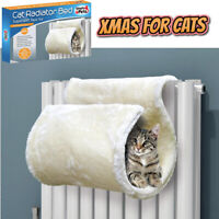 Super Soft Faux Fur Cat Radiator Bed Keeps Cats Kittens Warm Cosy Heater Hook