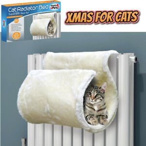 Super Soft Faux Fur Cat Radiator Bed Keeps Cats Kittens Warm Cosy Heater Hook