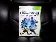 Disney Epic Mickey 2: The Power of Two (Microsoft Xbox 360, 2012) NEW