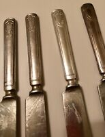 6 Antique R&B Jewell Pattern Dinner Knives. International Silver, Very Rare.