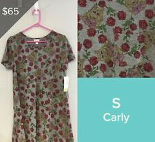LULAROE COLLECTION FOR DISNEY CARLY DRESS, SIZE S NWT MISS PIGGY 3548
