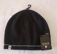 ALFANI MEN BLUE REFLECTIVE WARM WINTER HAT SKI BLACK CAP BEANIE ONE SIZE