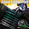 A Pair of Motorcycle Helmet Light Strip Motor Bike Signal Night Lights Riding z