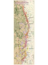 Map of Bourgogne Vineyards, La Grande Côte