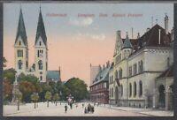 46032) AK Halberstadt Domplatz Dom Kaiserl. Postamt 1918