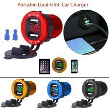 12-24V Cargador de movil para coche mechero Carga rapida doble USB 2.1A