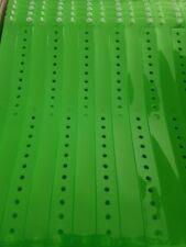 "50 3/4"" Neon Green Bright Plastic/Vinyl Translucent Wristbands,"