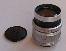 Telor 2/85mm Red O German helicoid lens with 18 blades M42 screw mount - EXC!
