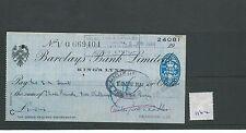 WBC. - assegno-ch1164-utilizzato -1944 - Barclays Bank, KING'S Lynn