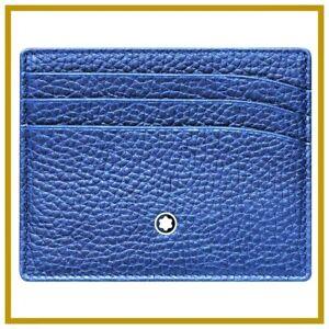 Scheckkarten Kreditkarten Etui Halter Herren Leder Montblanc Meisterstuck 116743