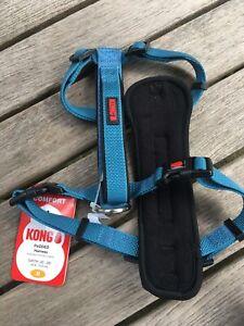 "KONG Padded Chest Plate Dog Harness BRAND NEW-Medium Blue Girth 20-29"" 4 CHARITY"