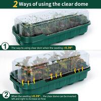 Planting Tray Plastic Nursery Pot Kit Plant Germination Garden Box with Lid