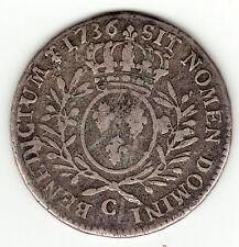 Louis XV, 1736 C silver half ecu aux branches d'olivier