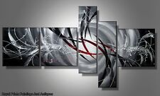 Red And Grey Pointers Abstract Oil Painting On Canvas | Perfect Gift | Framed