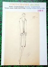 CHANEL Very Rare Original Scketch with Chinese Ink - Roaries Twenties - # 887