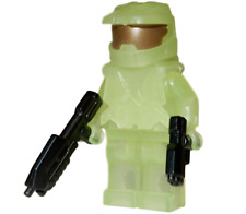 **NEW** LEGO Custom - GLOW IN THE DARK HALO SPARTAN - Master Chief Minifigure