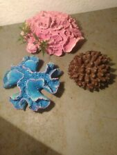 New listing Lot Of 3 Fish Tank Decorations, Coral