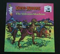 Vtg Dino-Riders Book 1980s Dinosaur Volcano Machine  -IIIX2+